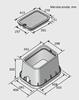 Bild von Ventilski jašek standard s pokrovom|D:533 mm x Š:406 mm x V:356 mm|