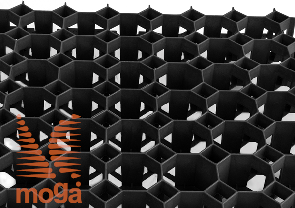 Travna plošča/rešetka Stella  Črna D: 50 cm x Š: 50 cm x V: 4,0 cm 