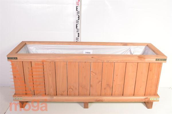 Leseno korito - pravokotno  Macesen D: 150 cm x Š: 50 cm x V: 50 cm 
