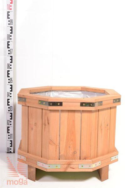 Leseno korito - osmerokotno |D: 60 cm x Š: 60 cm x V: 40 cm|