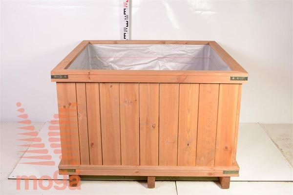 Leseno korito - kvadratno |D: 110 cm x Š: 110 cm x V: 65 cm|