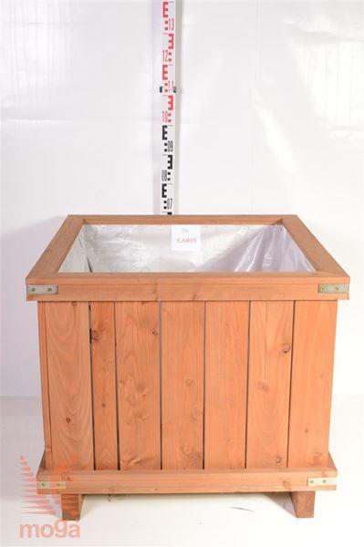 Bild von Pflanzgefäß aus Holz - Quadrat | Lärchenholz | L: 80 cm x B: 80 cm x H: 60 cm |