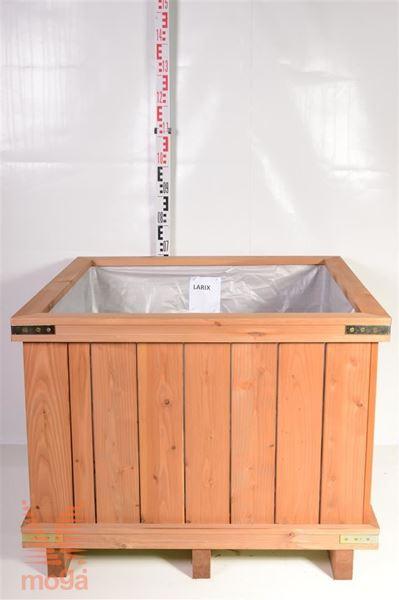 Bild von Pflanzgefäß aus Holz - Quadrat | Lärchenholz | L: 90 cm x B: 90 cm x H: 60 cm |
