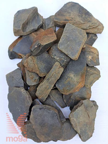 Bild von Lomljen škrilavec |Grafitno črna|30-60 mm|20 kg|