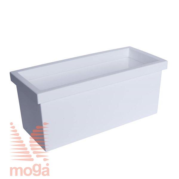 Lonec Sagitta Alba |Bela|D: 80/74 cm x Š: 35/28,5 cm x V: 34 cm|Vol: 70 L|