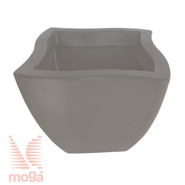 Lonec Dorado - kvadraten |Golobje siva|D: 40/30 cm x Š: 40/30 cm x V: 34 cm|Vol: 35 L|