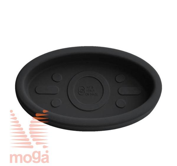 Podstavek Teiplast - ovalen  Črna D: 44/40 cm x Š: 25,5/21 cm za lonec vol: 23 L 
