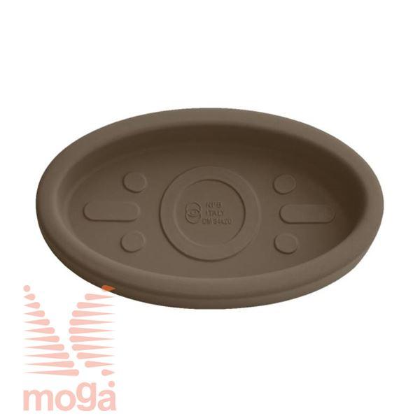 Podstavek Teiplast - ovalen  Bronasta D: 44/40 cm x Š: 25,5/21 cm za lonec vol: 23 L 