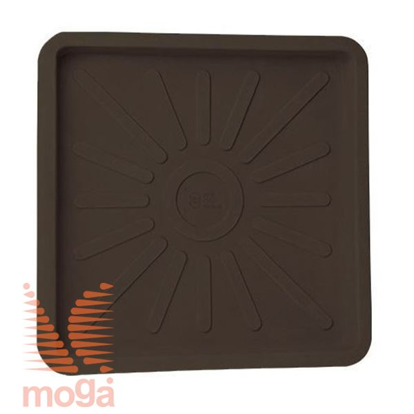Bild von Untertasse Teiplast - Quadratisch |Bronze|L: 56/51 cm x B: 56/51 cm|für Topf Vol: 104 L|