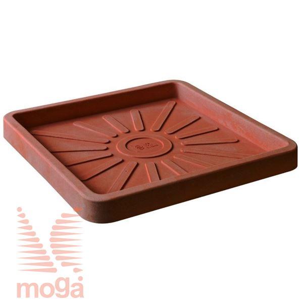 Bild von Untertasse Teiplast - Quadratisch |Terracotta|42/38x42/38cm|für Topf Vol: 33 L|