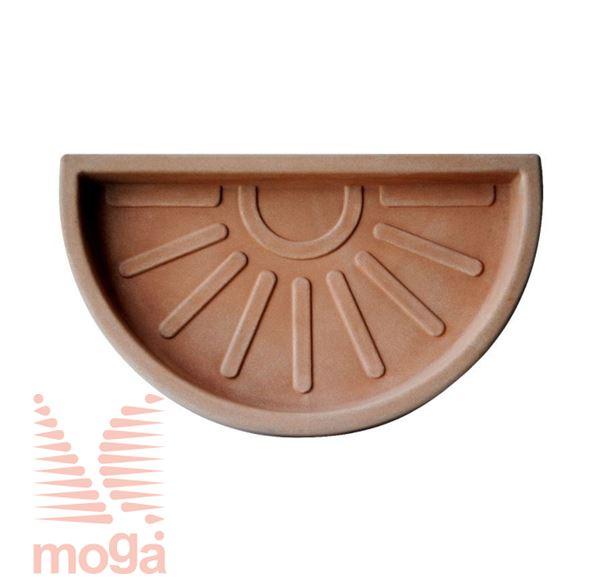 Bild von Untertasse Teiplast - Halbkreis |Terracotta|FI: 42 cm|für Topf Vol: 47 L|