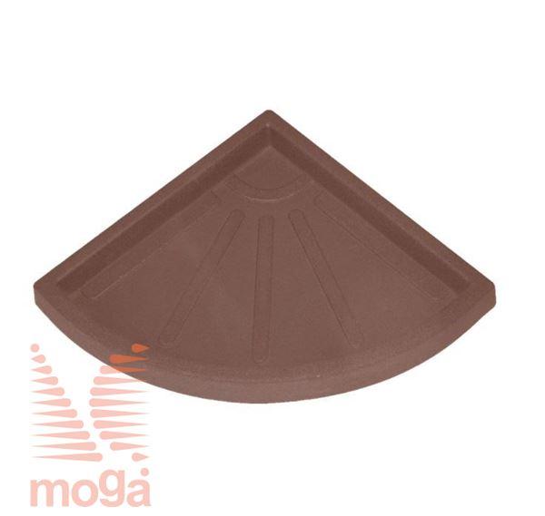 Bild von Untertasse Teiplast - Dreieck |Terracotta|FI: 31 cm|für Topf Vol: 49 L|