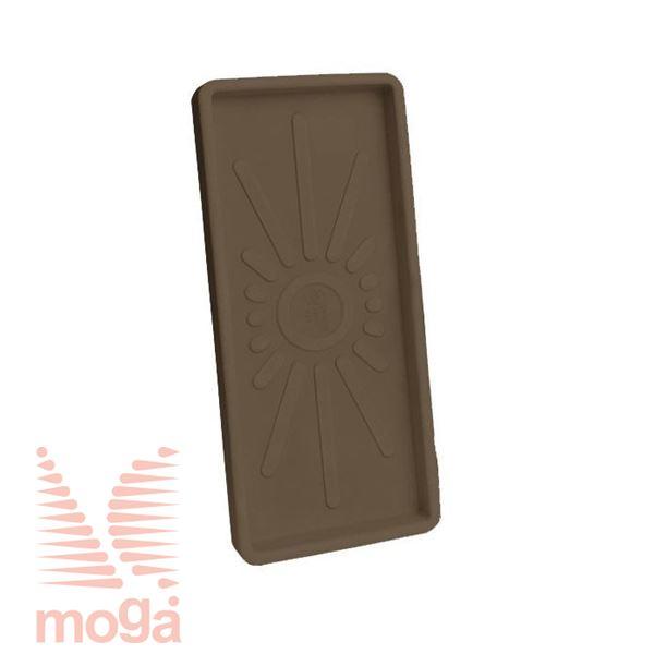 Bild von Untertasse Teiplast - Rechteckig |Bronze|L: 51/47,5 cm x B: 22/19 cm|für Topf Vol: 20 L|