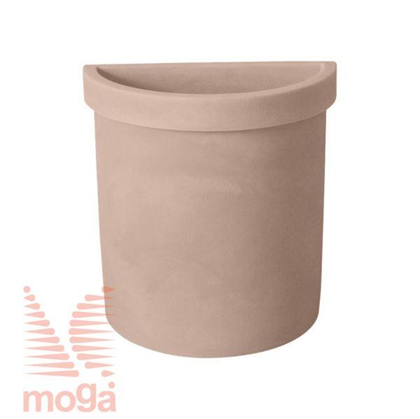 Picture of Pot Vela - Semicircle |Siena|L: 52 cm x W: 27 cm x H: 56 cm|Vol: 49 L|