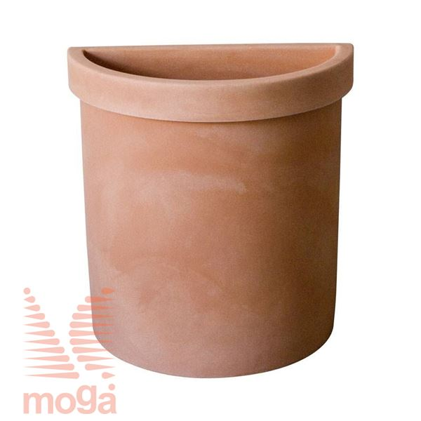 Picture of Pot Vela - Semicircle |Terra cotta|L: 52 cm x W: 27 cm x H: 56 cm|Vol: 49 L|